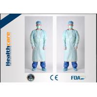 China Simple Disposable Protective Gowns Long Sleeve Anti-blood Isolation Gowns With Thumbhole on sale