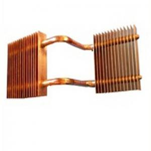 China Fin Welded Copper Pipe Heat Sinks Metal Stamping Parts Pipe Fitting Brass Tube on sale