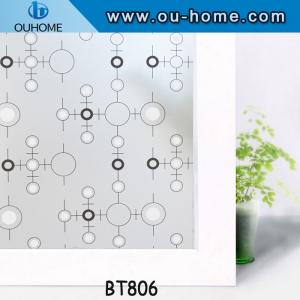 China BT806 Popular PVC frosted decortaion stained glass window film on sale