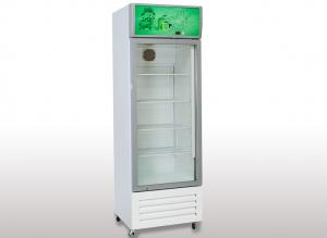China White Body Commercial Upright Refrigerator Floor Standing Glass Door Upright Fridge on sale