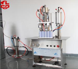 China Semi Automatic Aerosol Filling Machine / Equipments For Party Snow Spray , Party Strings on sale