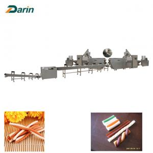 China Dog Dental Care Chewing Pet Food Production Line Single Extruder Stainless Steel on sale