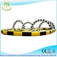 Hansel Yellow / Black Inflatable double popkart track for sport games