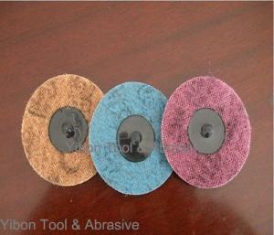 China 3inch 3M Polishing Nylon Abrasive Non Woven quick change Disc on sale