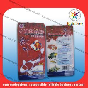 China De pie reciclable de pescados del bolso plástico de la comida con la impresión hermosa on sale