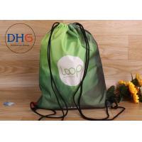 China Embroidered Drawstring Bag Backpack , Drawstring Bag Custom Logo For School Kids on sale
