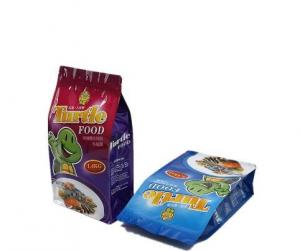 China custom dust smell proof side gusset plastic bag packaging for dog food on sale