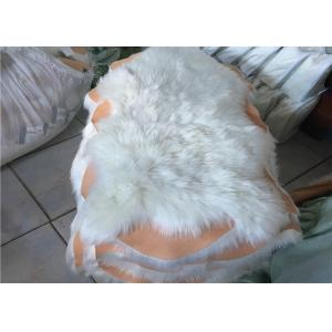 China 100% Polyester Plain White Faux Sheepskin Rug Living Room 100*100 CM OEM on sale