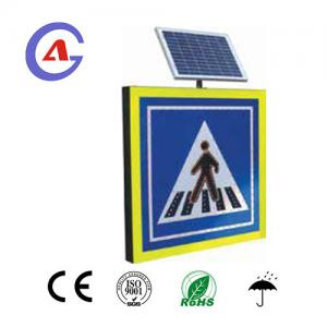 China Square shape fast delivery high quality Turkey Solar powered LED Pedestrian Crossing sign with 1 year warranty on sale