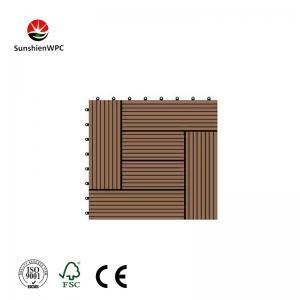 China Sunshien WPC wooden design pvc outdoor decking tile 300*300mm for decoration on sale