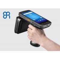 Intelligent Handheld UHF RFID Reader Circular Polarization Reading Rate 200 Tags / S