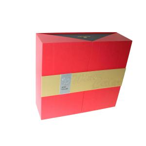 China Red Special Paper Top Sheet Moon Cake Cardboard Luxury Gift Food Boxes on sale