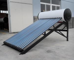 China calentador de agua solar de acero del tubo de calor del color de la presión del acuerdo 150L para el tejado plano on sale