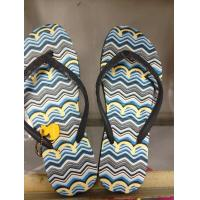 Ladies Nude EVA Foam Navy Blue / Black / Red Cool Flip Flops For Beach Walk