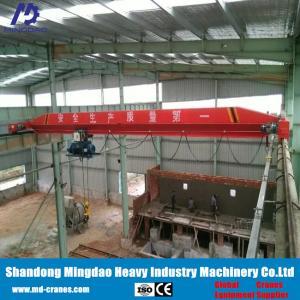 China Rail Guider Running Wireless Remote Controlled Single Girder Overhead Crane 5 Ton on sale