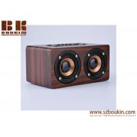 Dual-horn Wooden Bluetooth Wireless Portable Speaker With Bass Music Sound, Intelligent Hands-free Calls