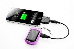 China Solar Power Cell Phone Battery Charger for Flashlight Torch on sale