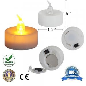 China Amber Yellow Flickering Battery Operated Tealight CandlesFor Halloween Pumpkins on sale
