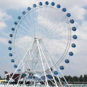 China 50m Fairground Ferris Wheel , Sky Rider Ferris Wheel Aluminum Alloy Cockpit on sale