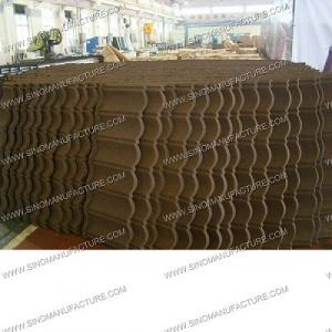 China anti-fire stone coated metal roof tile on sale