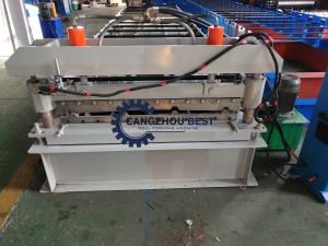 China Trapezoidal Metal Roofing Sheet Roll Forming Machine ,  Iron Sheet Making Machine on sale