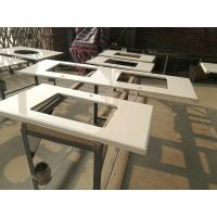 China Super White Nano 3 Crystallized Glass Top Kitchen Table For Home / Restaurant / Hotel on sale