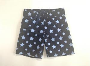 China High Waist Beach Swim Shorts Polyester Navy Base Digital Print Front on sale