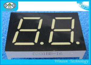 China 0.80 Inch Height Two Digit 7 Segment Display , LED Numeric Display for Audio equipment on sale