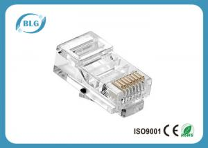 China PC Housing Network Cable Accessories UTP 8P8C RJ45 Male Connector Gold Plated Contact Blade on sale