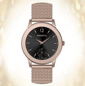 China SS Mesh Band ladies wrist watches / fashionable waterproof sports watch on sale