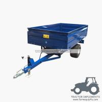 1TR2W tractor trailer 1.0Ton Loading capacity,farm Hydraulic dump trailer with CE