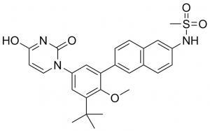 China Dasabuvir Pharmaceutically Active Compounds 1132935-63-7 Anti Hepatitis C Virus on sale