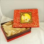 Customized Chinese Moon Cake Boxes With Damask Printing 13 * 10 * 3 inch