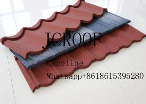 China Galvalume Steel Roofing Sheet Environment friendly 1400mm Size Colorful Stone Chips on sale