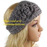 Crochet hairband, pop headband knitted elastic headband baby headbands hair band crochet DIY headband