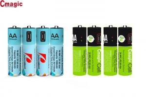China 1.2v 450mah / 1000mah Bluetooth Phone Accessories Micro USB Rechargeable AA Batteries on sale