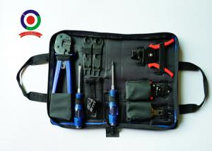 China Blue Solar PV Tool Kits Carbon Steel Material With MC4 Crimping Stripper And Cutter on sale
