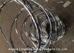 High Security Galvanized Concertina Razor Barbed Wire With Razor Sharp Steel Blade
