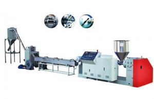 China Single Screw Plastic Pelletizing Line , PE PP ABS Plastic Pellet Extruder on sale