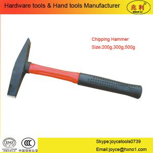 China Chipping Hammer with plastic handle on sale