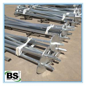 China square solid Steel galvanized thread rod manufacture helical piles on sale