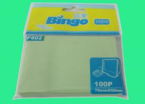 China Personalized Notes Pastel Green Sticky Memo Pad 2 X 3 Inch Page Marker on sale