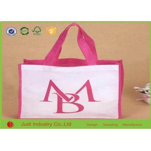 China Logo Printed Non Woven Shopping Bag 30 ~ 180gsm 38 X 42 X 10cm Reusable / Durable on sale