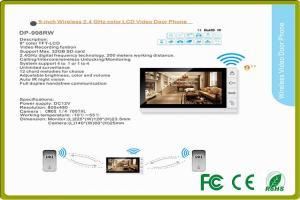 China 9 LCD body sensors villa intercom system color video door camera for residential intercom systems on sale
