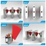 Anti Collision Anti Rushing Half Height Turnstile Flap Barrier Gate Used In Subway Bus Stration