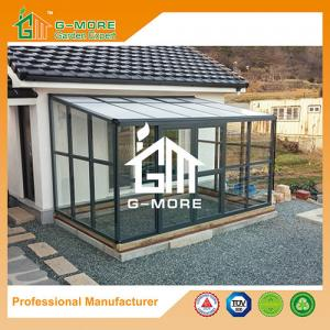 China Aluminum Greenhouse-Hexagon Series-242 X 392 X 237CM-Dark Grey Color- PC or Glass on sale