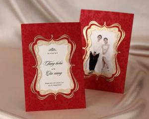 China Custom Design Make Your Own Wedding Invitations with Photos CW1047 on sale