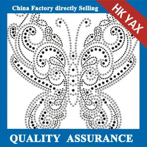 China Factory Wholesale iron on rhinestone patch on the garment on sale