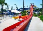 Custom Speed Slide Outdoor Commercial Water Park Equipments Fiberglass Slides For Adult