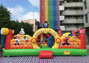 China Amusement Disney Mickey Park Inflatable Jumping Bouncer With Hand Printing on sale